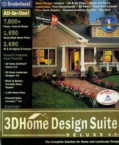 3d Home Design Suite Deluxe 4 0 Manual Pc Cd House Architect