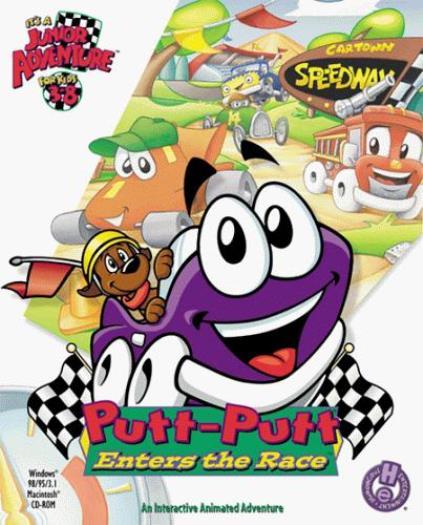 Putt Putt Car : Putt enters the race pc mac cd kid drive behind wheel