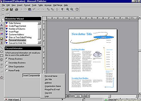 ms publisher 98 pc cd create business desktop publishing