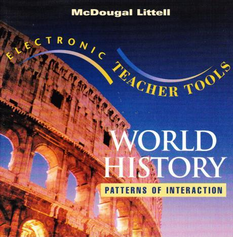 Modern World History Textbook Mcdougal Littell World History Simple World History Textbook Patterns Of Interaction
