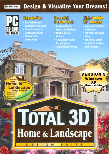 The total 3d home and landscape deluxe suite version 9 0 for 3d home architect landscape design deluxe v6 0