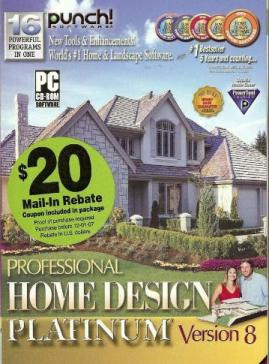 Punch Home Design 8 Platinum PC CD House Building Tools EBay