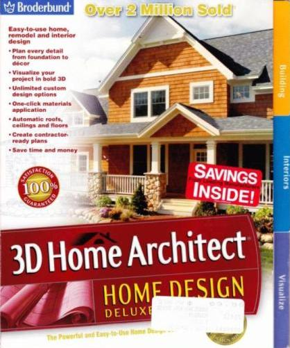 3d home architect home design deluxe 6 pc cd remodel