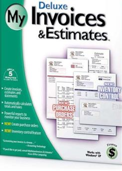My invoices estimates deluxe 2001 pc cd small business for Deluxe invoices and estimates