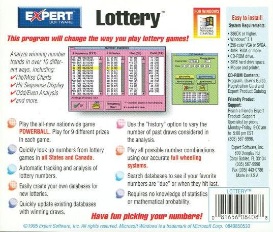 Expert Lottery PC CD Winning Strategies Beat Odds Sequence