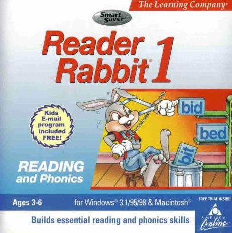 Reader Rabbit 1 PC Mac CD Early Pre Readers Reading Word