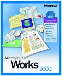Ms works 2000 pc cd word processor spreadsheet database for Microsoft task launcher templates