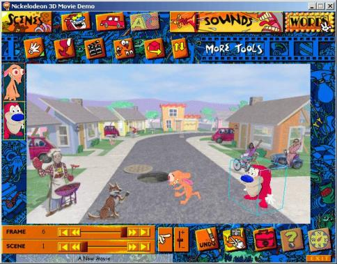 Ms Nickelodeon 3d Movie Maker Pc Cd Create Your Own Ebay
