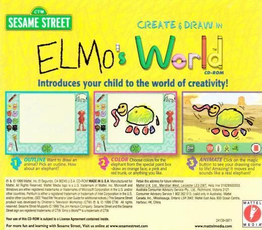 Sesame Street: Create & Draw in Elmo's World PC CD ...