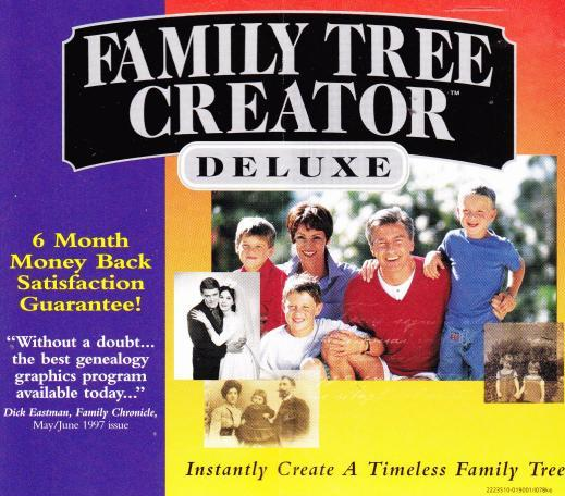 family tree creator deluxe pc cd genealogy research data names