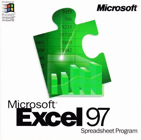 Ms excel 97 upgrade pc cd analyze numbers spreadsheet worksheet microsoft excel 97 upgrade breaks down the barriers between you and your spreadsheet its more discoverable and more usable making it easier to turn your altavistaventures Image collections