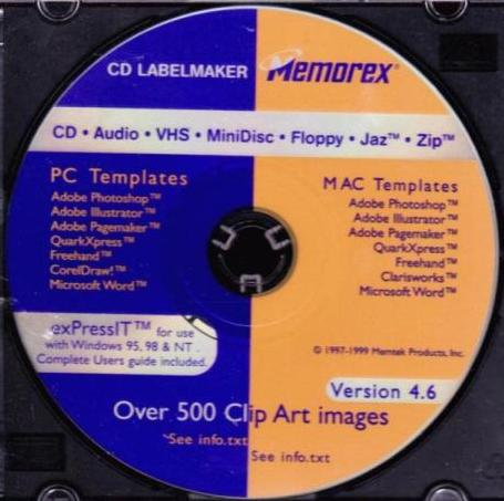 expressit 4 6 pc cd design print label maker templates for media