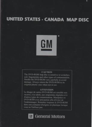 Gm United States Canada Map Disc 2006 General Motors United States & Canada Map Disc DVD Navigation GM