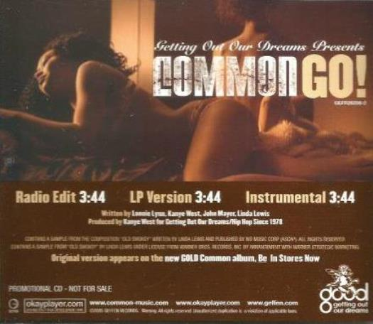 Common: Go! PROMO MUSIC AUDIO CD Kanye West 3tk Edit LP