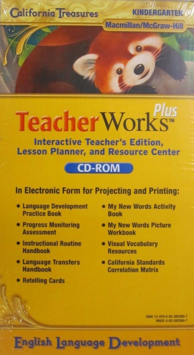 Details About California Treasures TeacherWorks Plus English Language Development K PC MAC CD