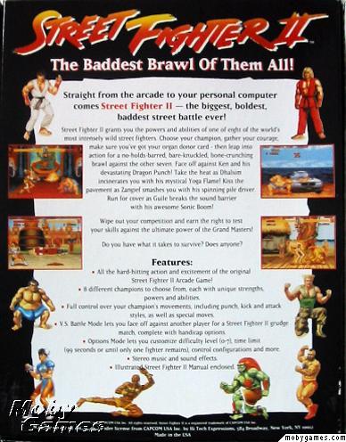 Street Fighter II 2 PC CD fight boss fist brawling hand